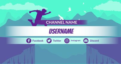 Twitch Banner Maker for Action or Adventure Games 1460