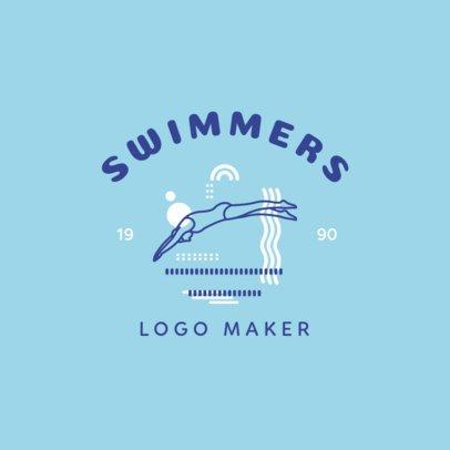 Swimming Logo Maker Online Logo Maker Placeit