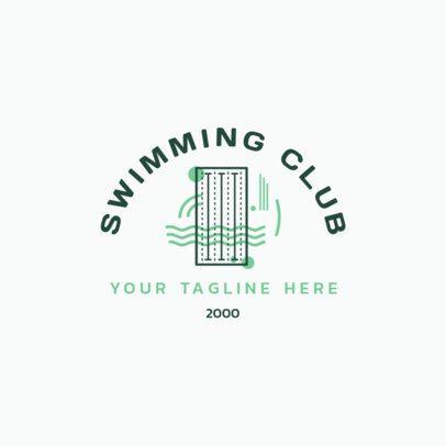 Minimalistic Swimming Logo Generator 1579b