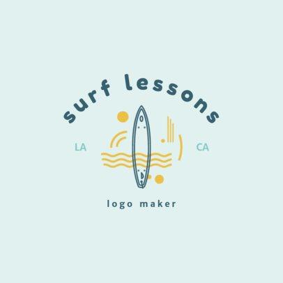Swimming Logo Generator for Surf Lessons 1579e