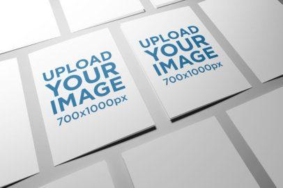 Mockup of Two A5 Bi-Fold Brochures in a Minimalistic Setting 34-el