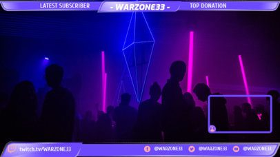 Twitch Overlay Maker with a Nightclub Setting Background 1251b
