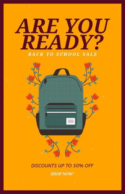 Back to School Supplies Sale Flyer Generator 192i