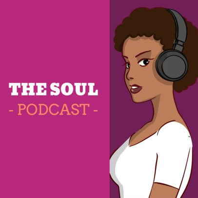 Cool Podcast Cover Generator for a Soul Music-Themed Show 1493d