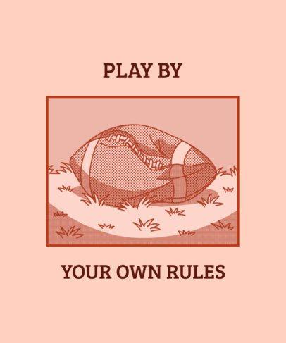 T-Shirt Design Maker with a Deflated Football Ball 1523c