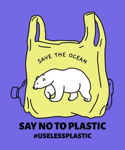 T-Shirt Design Maker for Environmental Awareness 1559