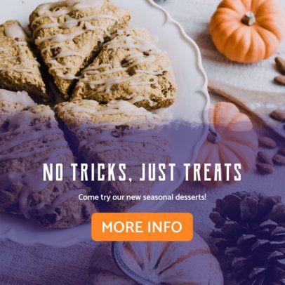 Halloween Treats Online Banner Maker for Bakeries 364g