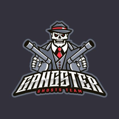 Gaming Logo Maker with a Gangster Skull Character 383h