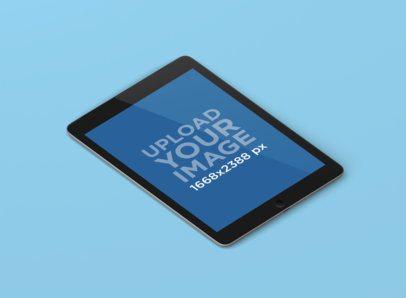 Minimal iPad Mockup Featuring a Solid Color Background 149-el