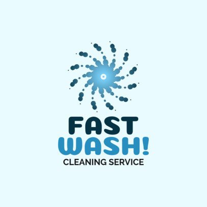 Cleaning Services Logo Maker with a Spiral of Bubbles 1173f
