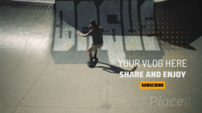 Youtube End Screen Video Maker Featuring a Skater Boy 1187