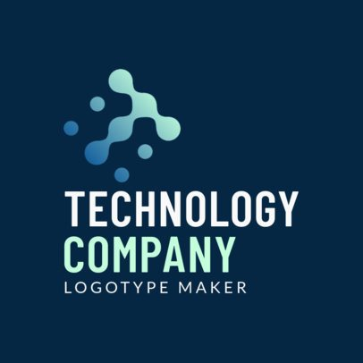 Technology Company Logo Maker with a Letter from an Abstract-Alphabet Design 2173f