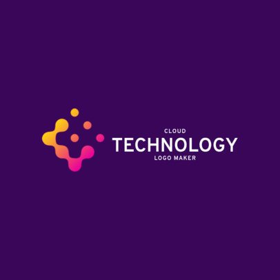Abstract Alphabet Logo Template for a Technology Corporation 2174f