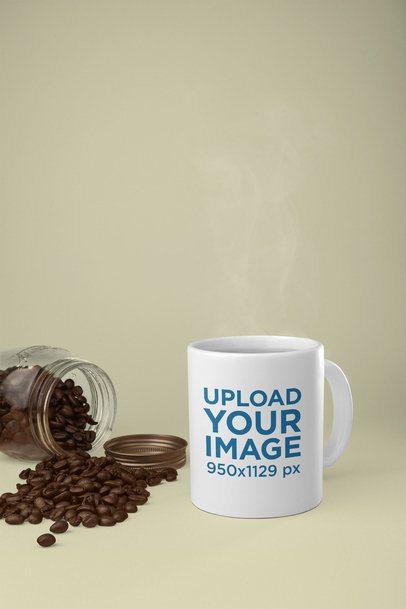 Mockup of an 11 oz Mug by Some Coffee Beans 28181