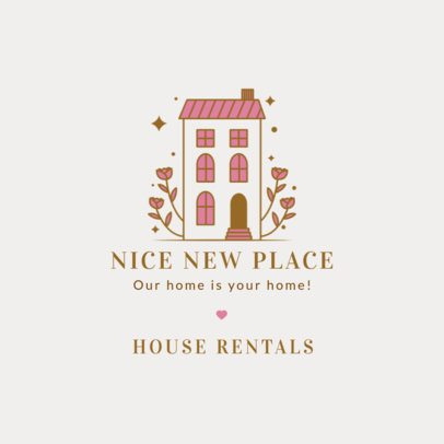 Hotel Logo Template for Vacation House Rentals 2330g