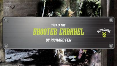 YouTube Banner Generator for Shooting Games Vloggers 1616b