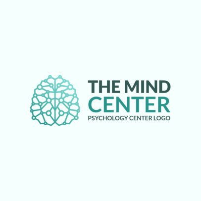 Logo Maker of a Creative Brain Shape Graphic 1524g-2334