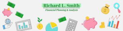Finance-Themed LinkedIn Cover Template 1595d