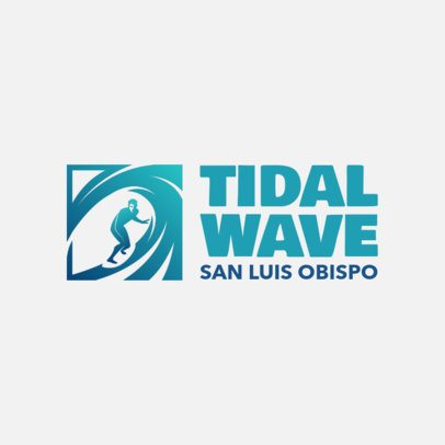 Sports Logo Maker for a Surfing Club 2376