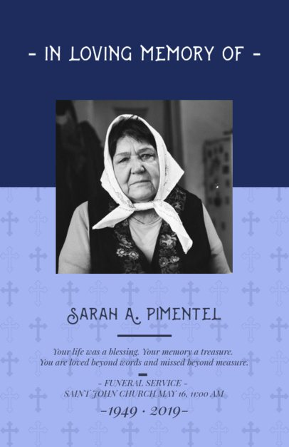 Funeral Program Generator Featuring In Loving Memory Quotes 1647h