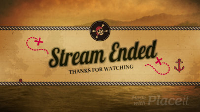 Loop Animation for a Stream Ending Twitch Video Banner Maker with a Pirate Theme 1580