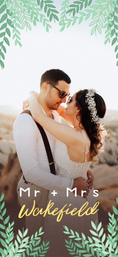 Snapchat Geofilter Generator for Weddings 1667a
