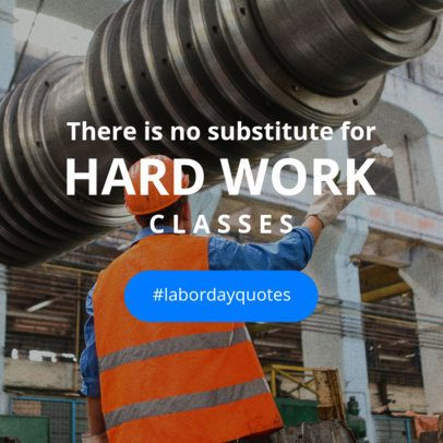 Online Banner Maker with a Quote for Labor Day 16639g-1692