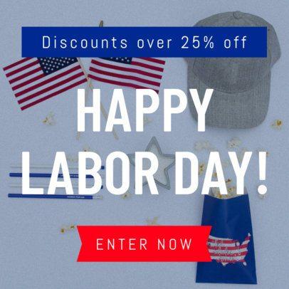 American Labor Day Banner Maker 747h-1692