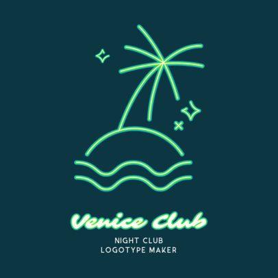 Beach-Inspired Nightclub Logo Creator 2414b