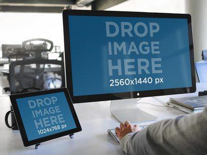Apple Cinema Display & iPad Work Environment