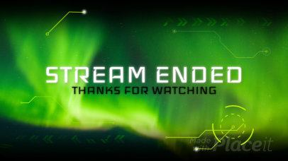 Twitch Banner Video Maker with Futuristic Animations for an Ended Stream 1581