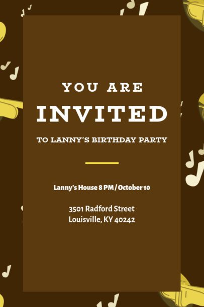 Birthday Party Invitation Maker with a Minimalist Design 1684d