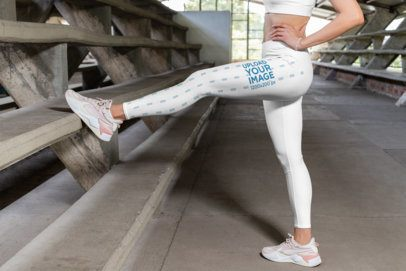 Leggings Mockup of a Woman Stretching her Legs 28715