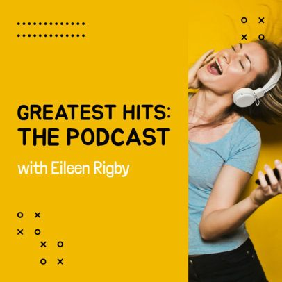 Music Podcast Cover Maker for a Greatest Hits Show 1721c