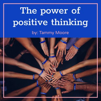 Podcast Cover Generator for Positive-Thinking Talk Shows 1723l