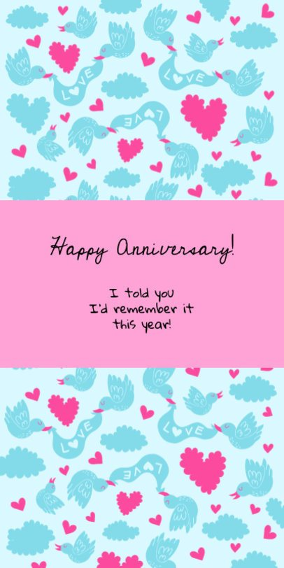 Greeting Card Template for an Anniversary Celebration 1586h