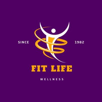 Fitness Logo Maker for a Wellness Center 2457c