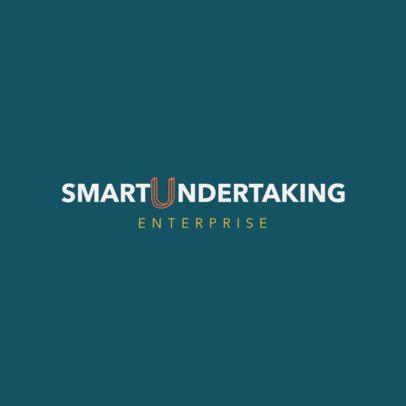 Enterprise Logo Maker Featuring a Tridimensional Letter Illustration 1528i 2462