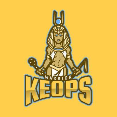 Gaming Logo Maker Featuring a Pharaoh Illustration 2455aa