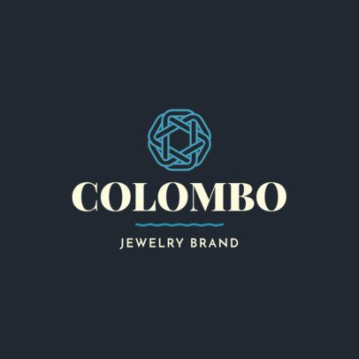 Jewelry Brand Logo Creator with an Abstract Clipart 2191h-2476