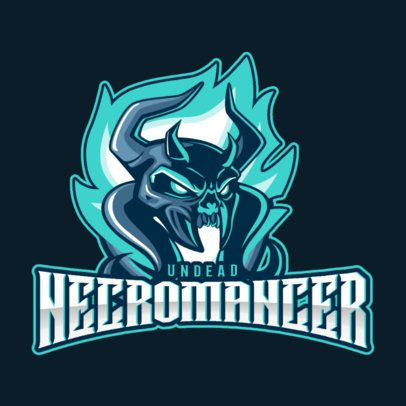 Gaming Logo Maker for DOTA 2 Fans Featuring a Necromancer Clipart 2499h