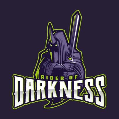 Logo Generator Featuring a DOTA 2 Inspired Dark Rider Character 2499m