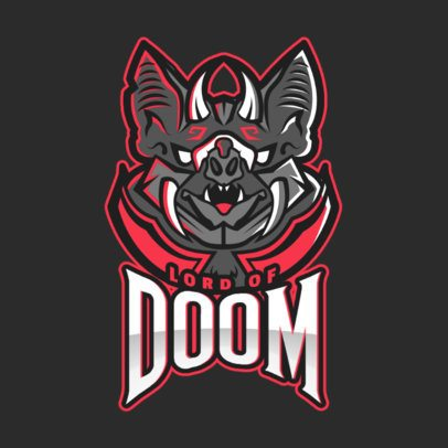 Gaming Logo Maker Featuring an Evil Fantasy Character Inspired in DOTA 2 2499v