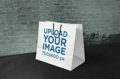 Mockup of a Paper Shopping Bag in a Cool Modern Setting 659-el