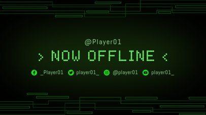 Twitch Offline Banner Maker with a Green Tech Background 975a--1762
