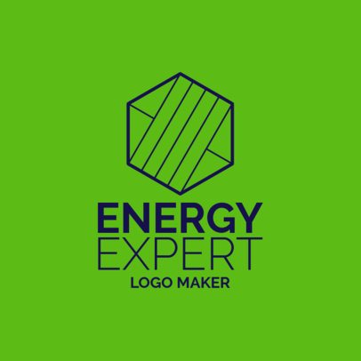 Electrician Logo Template with a Hexagonal Panel-Style Graphic 1183g 2512