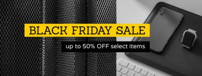 Black Friday Facebook Cover Maker with Electronic Devices in the Background 1084f -1784