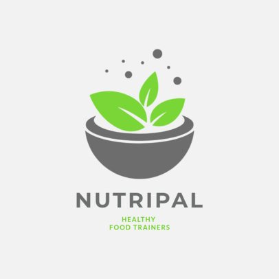 Nutritionist Logo Maker Featuring a Plant Pot Graphic 2536d
