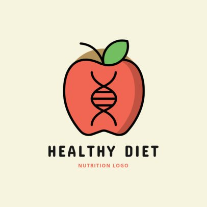 Nutritionist Logo Generator Featuring an Apple's DNA Illustration 2536l