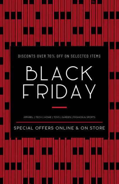 Flyer Template Promoting Black Friday Major Discounts 238k 1785e